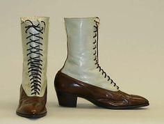 ShoesDate: 1900–1910 Culture: American Medium: leather, cotton