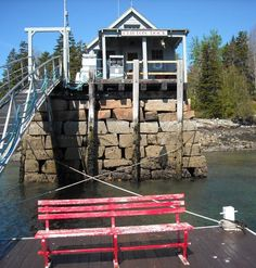 Clifton Dock, Northeast Harbor, Maine. stie links to photo travel essay about Acadia National Park