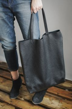 Black Tote Bag every day bag by patkas on Etsy, $150.00