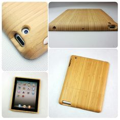 This sleek iPad2 protective shell is made from 100% bamboo, the inside is lined with black velvet which prevents friction and allows for a snug fit. http://geeksupply.co/shop/bamboo-ipad-2-case/