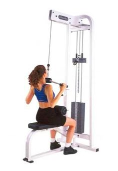 lateral pull down weight training working out strengthening exercise arm workout fitness gym girl working out