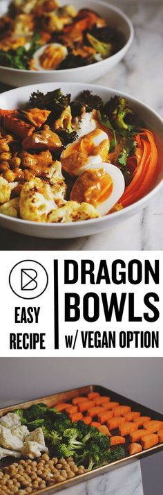 Easy Dinner Recipe: Dragon Bowls with an easy vegan option!