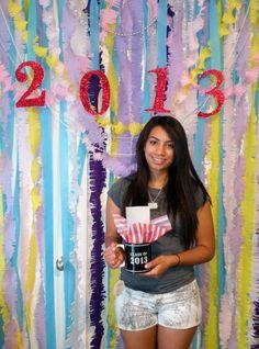 Photo backdrop I made for graduation party