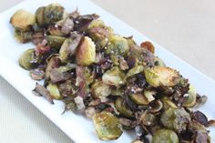 Lemon Glazed Brussels Sprouts with Mushroom Medley via @We are not Martha - November Featured Recipe