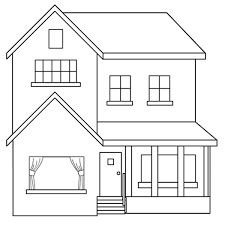 Best home drawing house coloring pages ideas, Baby Room drawing House Drawing For Kids, Simple House Drawing, Art Drawings For Kids, Easy Drawings, How To Draw House, House Colouring Pages, Coloring Books, Coloring Pages, Pencil Sketches Easy