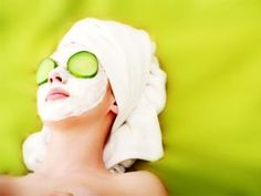Cucumber face masks have a soothing and hydrating effect on the skin.