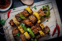 Per-Peri Sirloin Kebabs - Make delicious beef recipes easy, for any occasion Kebabs, Food Styling, Beef Recipes, Easy Meals, Vegetables, Meat Recipes, Kabob, Vegetable Recipes, Kabobs