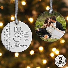 Bride Groom Personalized Ornament Wedding Christmas Ornaments And