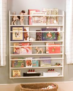 Diy Children's Bedroom Bookshelf: A ready-made plate rack can be easily transformed into a child's bookshelf, displaying both toys and children's books. You can also make your own shelves; just have all the wood cut to size at a lumberyard.