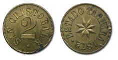 La Moneda de 2 Reales del Estado Estado Táchira