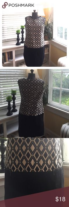 Worthington Diamond Tank Dress Cotton black tank dress ready for your espadrilles this summer. Perfect to wear into fall with a cardigan as well. Worthington Dresses Midi