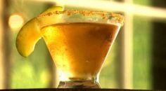American Pie - Apple Moonshine, Vanilla Vodka, Whip Cream Vodka, Ginger Ale and Graham Cracker Rim