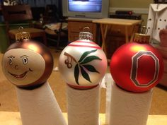 Felt Ohio State University Buckeye Christmas Tree Ornament ...
