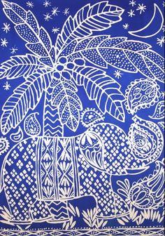 Luli Sanchez / blue batik elephant