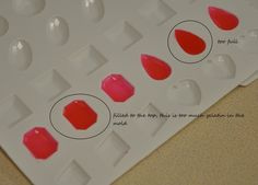 gelatin gems List of Materials  candy gem molds  food color  paintbrush  unflavored gelatin (I use knox)