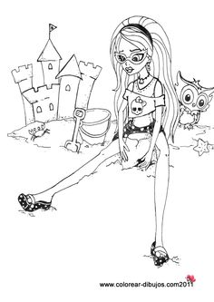 monster high coloring - Monster High Chibi Coloring Pages