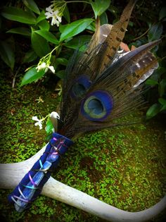 THIRD EYE Sacred Smudge Fan with Rainbow Aura by TheSageGoddess, $145.00