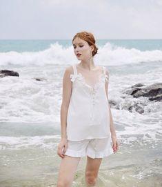 French Seam, Sleep Shirt, White Silk, Summer Tops, Silk Top, Latest Fashion Trends, Flower Girl Dresses, Wedding Dresses
