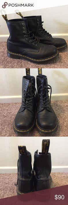 Black Doc Marten Boots Perfect condition. Worn a couple of times. Dr. Martens Shoes Combat & Moto Boots