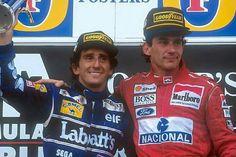 #2 Alain Prost...Canon Williams Team...#8 Ayrton Senna...Marlboro McLaren...GP Australia 1993