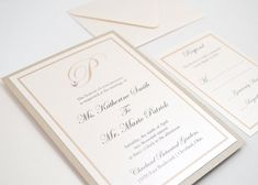 Wedding Invitation Card Flat Suite Double von RedHeartPaperCo
