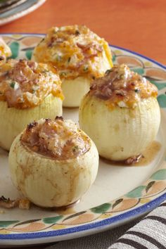 Try this delicious grilled stuffed onion recipe at your next party.