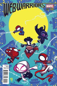 Web Warriors #1 variant cover by Skottie Young *
