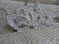 Ideas knitting stitches lace tricot for 2019 Crochet Lace Edging, Crochet Motifs, Crochet Borders, Crochet Stitches Patterns, Thread Crochet, Crochet Trim, Irish Crochet, Lace Knitting, Knitting Stitches