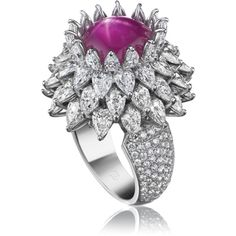 Trendy Diamond Rings : Harry Winston Star Ruby Ring - Buy Me Diamond Jewelry Box, Jewelery, Jewelry Accessories, Fine Jewelry, Jewelry Design, Star Jewelry, Jewelry Rings, Harry Winston, Diamond Jewelry