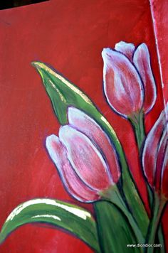 Red Tulips  by  DionDior