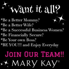 Mary kay Mary Kay! Contact ME to book a party and YOU will get all the benefits! (your fav. products for FREE!). www.marykay.com/sherylemmett Call or text 435.650.6131