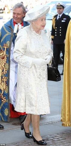 Our Glorious Queen at the service to celebrate the 60th anniversary of her coronation Tuesday 4th June 2013 at 11am