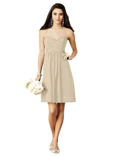 Alfred Angelo 7289 S Bridesmaid Dress in Neutral in Chiffon