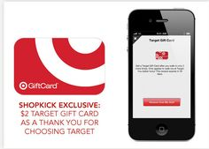 Get a FREE Target gift card from Shopkick! #target #freebie