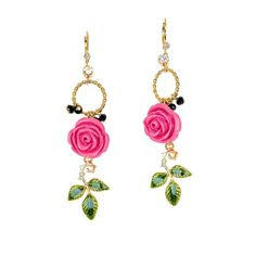 Gorgeous rose earrings