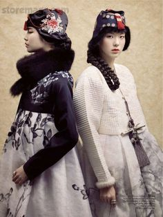 'matching sisters' (wardrobing concept only)  Harper's Bazaar Korea Feb 2012