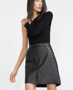 Image 3 of FAUX LEATHER SKIRT from Zara