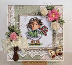 Cards Colours & Sam: Marvelous Magnolia Challenge #63: Add some green / gebruik de kleur groen