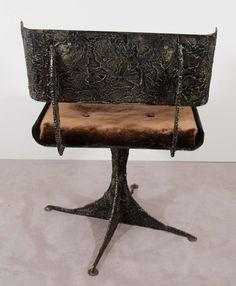 paul evans brutalist   Brutalist Rare Sculpted Paul Evans Chair image 7