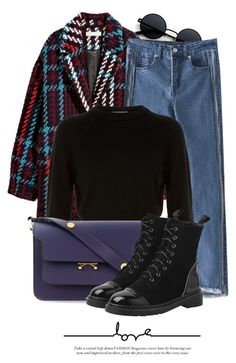 """""""15:08"""" by monmondefou ❤ liked on Polyvore featuring Helmut Lang and Marni"""
