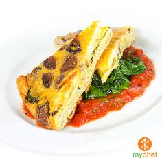 Breakfast is the important meal of the day! Start your day off with My Chef's Spring Vegetable Frittata. Sign up at www.OrderMyChef.com for fresh prepared meal plans delivered right to your door! #ordermychef #mealplans #familymealplans