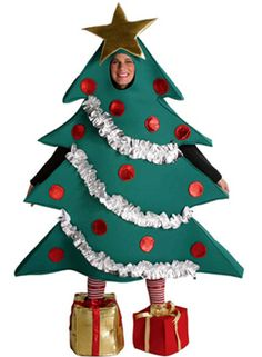 Christmas Tree Costume - Christmas Fancy Dress - Christmas at Escapade™ UK Christmas Tree Costume, How To Make Christmas Tree, Holiday Costumes, Costume Halloween, Xmas Tree, Christmas Gifts, Adult Halloween, Halloween Christmas, Red Christmas
