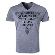 Bakline Afraid to Fail Rugby T-Shirt (Gray)