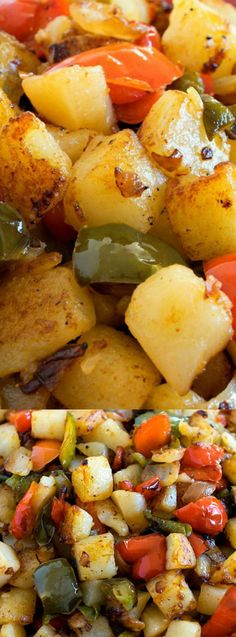 This Potatoes O'Brien recipe from A Family Feast is a classic side dish and dinnertime favorite. It's made with diced and fried potatoes, fresh red and green bell pepper, and a mix of tasty seasonings!