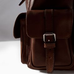 ZARA - MAN - LEATHER RUCKSACK WITH BUCKLES