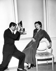 The Man Who Loved Loafers.Cary Grant, with Paula Raymond, 1950.