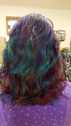 My 'Oil Slick' hair done by Doreen Gustafson at Hair's the Thing in Milltown, WI