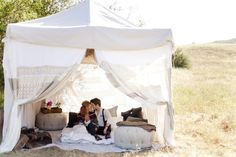 Photo Booth - perfect way to replace my old canopy cover...looks soft and romantic!