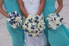 Artificial Blue Orchids Dendrobiums | Blue Dendrobium Orchids Bridal Bouquet | Beautiful Orchids Care