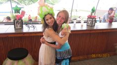 Destiny and Danielle at the graduation party